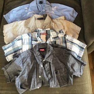 Boys size 7-8 short sleeve button down shirt lot